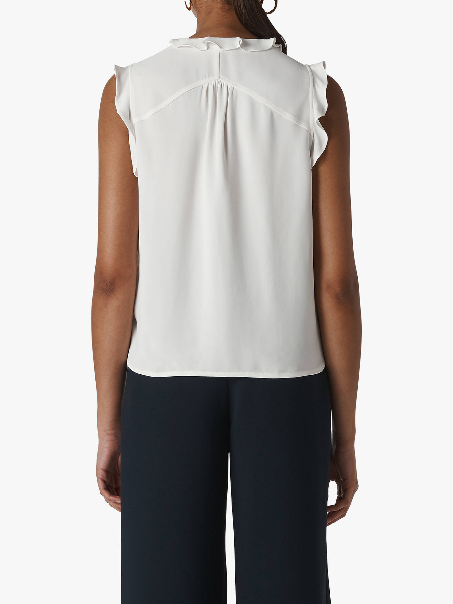 a89f0af85 ... Buy Whistles Emily Frill Detail Top, Ivory, 12 Online at johnlewis.com  ...