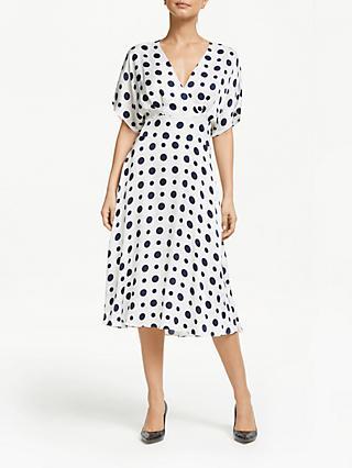 84895958b722 Winser London Satin Spot Print Wrap Dress