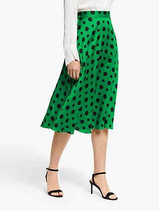 a0c2a8d62e2c Winser London Satin Polka Dot Skirt