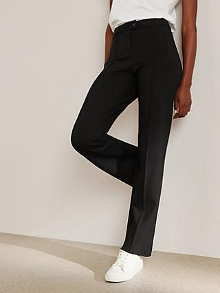 John Lewis & Partners Ponte Tailored Trousers, Black