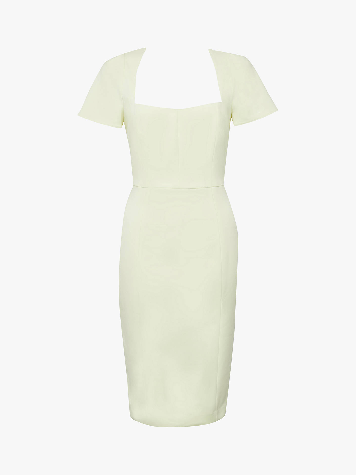 Buy French Connection Glass Stretch Cap Sleeve Dress, Super Lemon, 8 Online at johnlewis.com