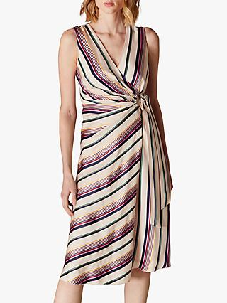 69cdeb5df4 Karen Millen Striped Wrap Dress, Multi