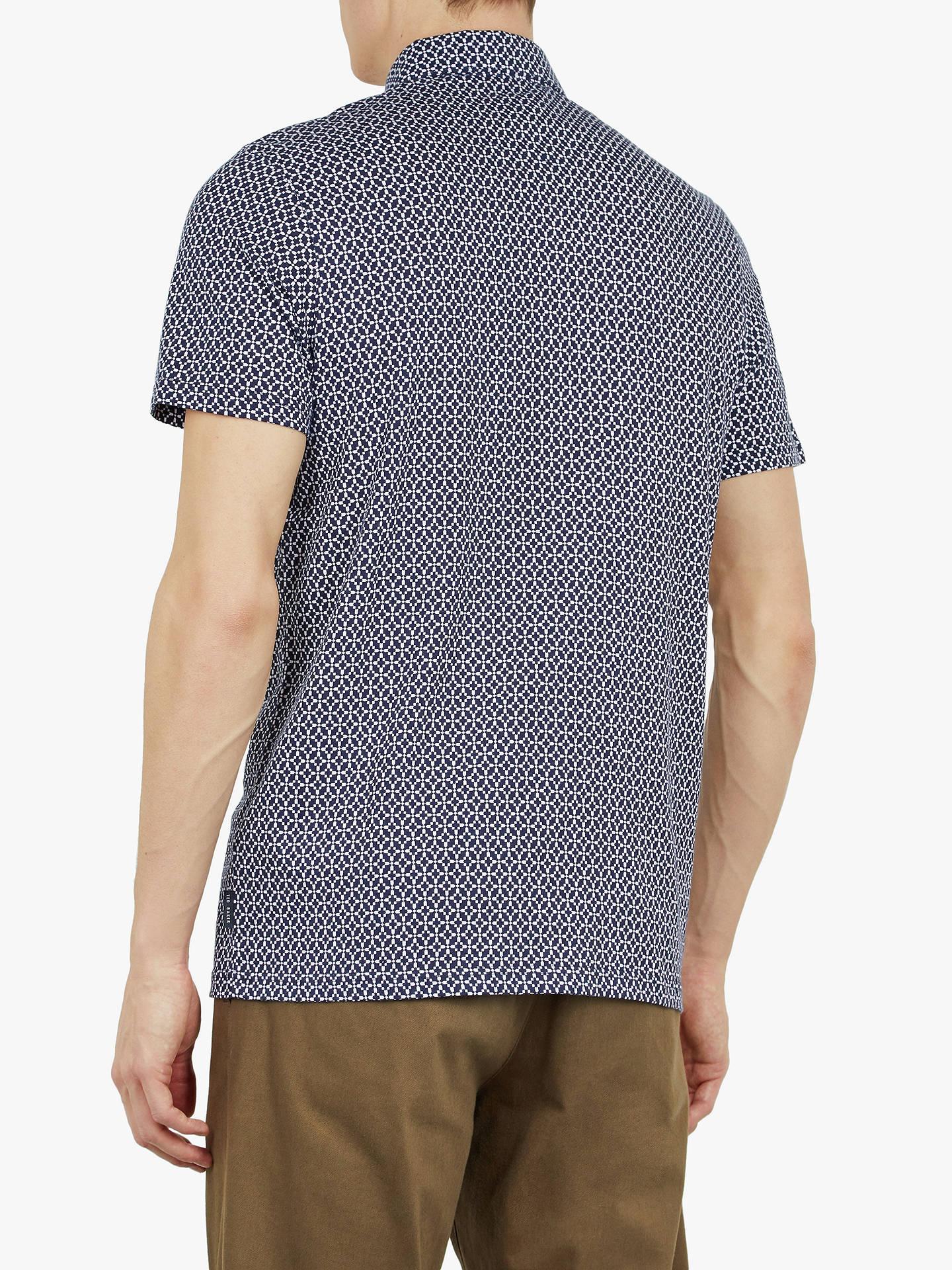 cc697c6d5 Ted Baker Badant Short Sleeve Geometric Print Polo Shirt at John ...