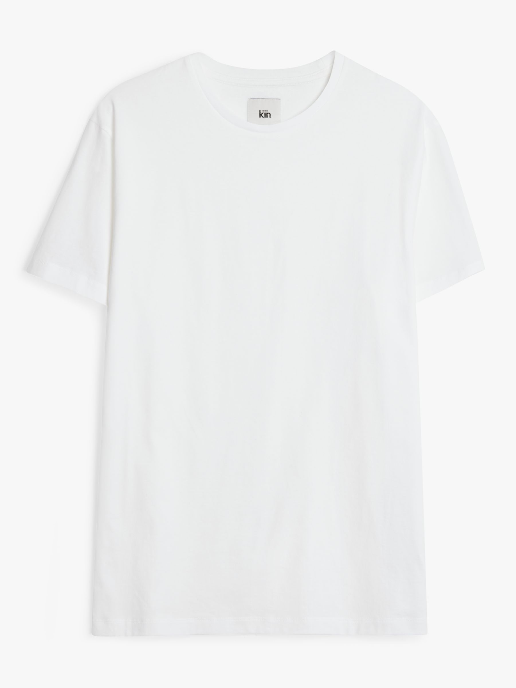 Buy Kin Plain Crew Neck T-Shirt, White, XS Online at johnlewis.com