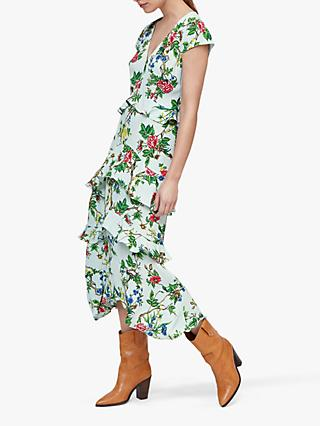 Warehouse Ruffle Floral Dress, Multi