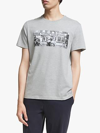 Kin Photo Print T-Shirt, Grey