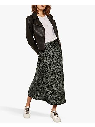 7023e26930 Mint Velvet Phillippa Leopard Motif Midi Skirt, Multi