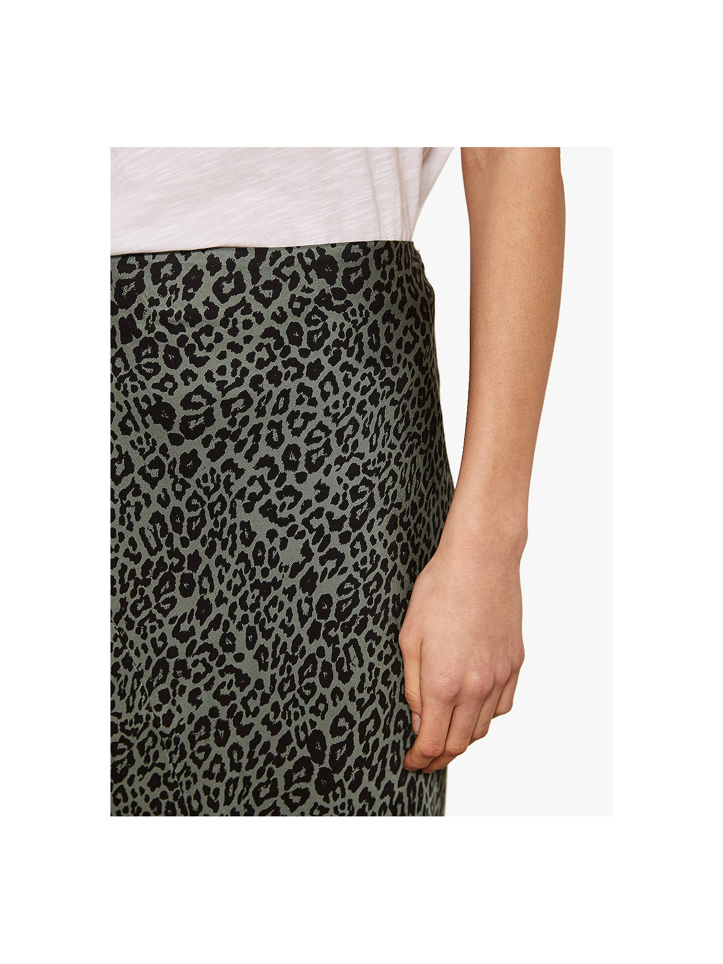 Buy Mint Velvet Phillippa Leopard Motif Midi Skirt, Multi, 10 Online at johnlewis.com