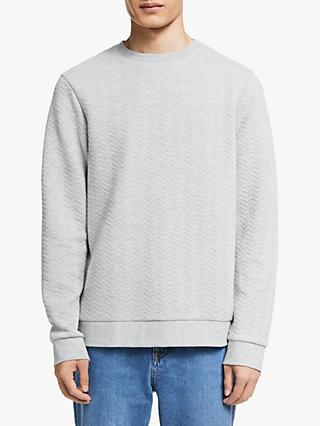 Kin Quilted Sweatshirt, Grey