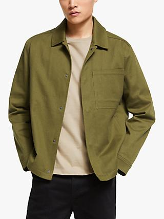 Kin Cotton Twill Jersey Harrington Jacket, Khaki