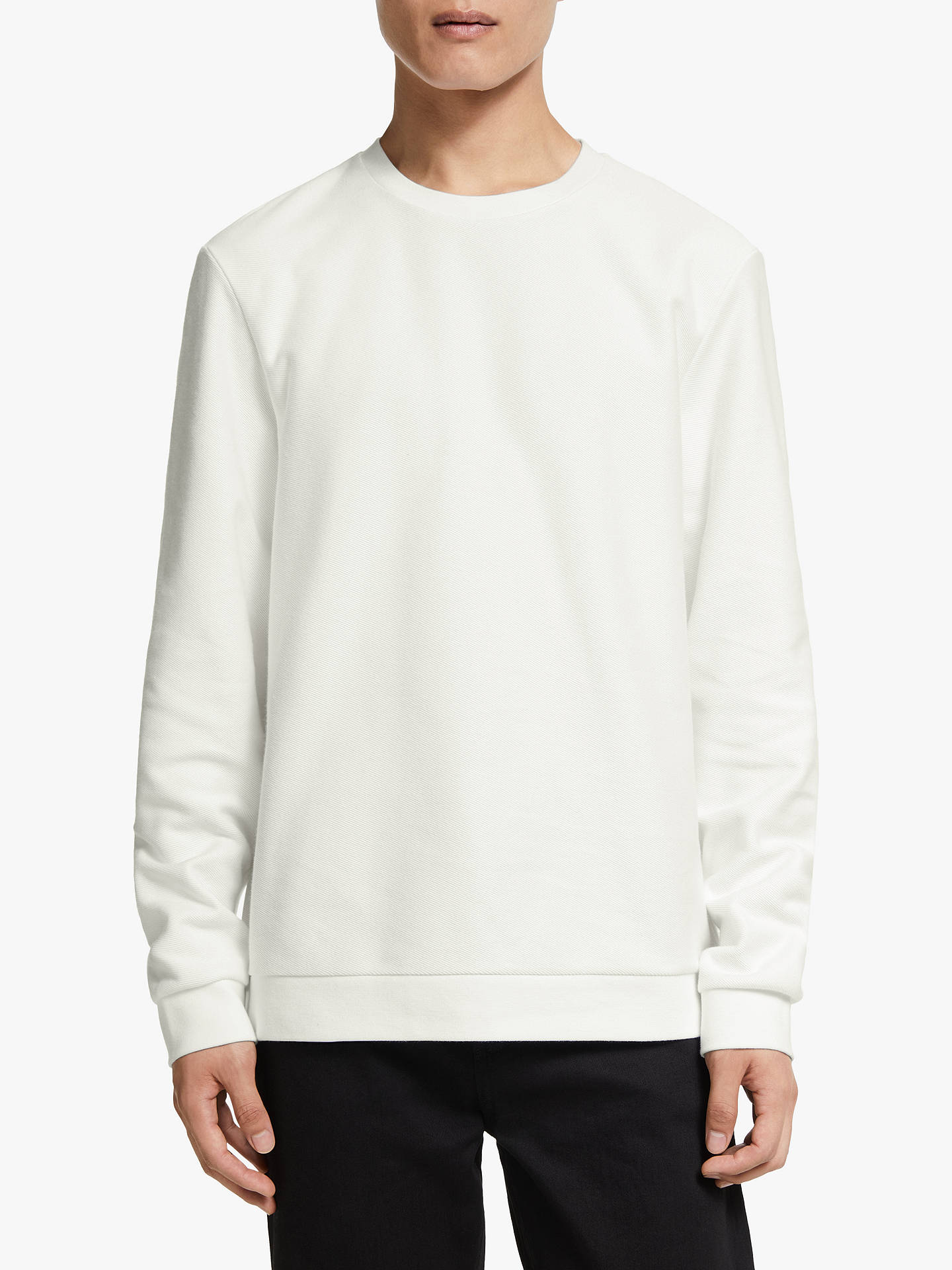 Buy Kin Twill Sweatshirt, White, S Online at johnlewis.com