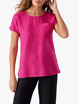 7388bb9cb42 Pure Collection Laundered Linen Top