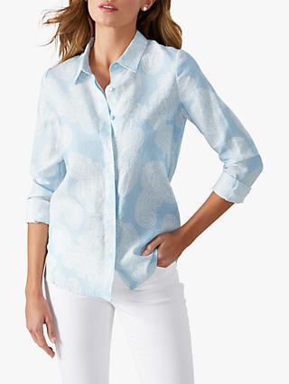 f6e53148d94 Pure Collection Paisley Linen Shirt