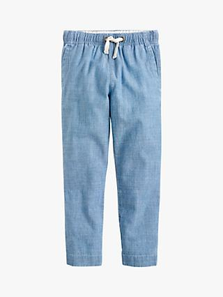 crewcuts by J.Crew Boys' Chambray Pull On Trousers, Blue