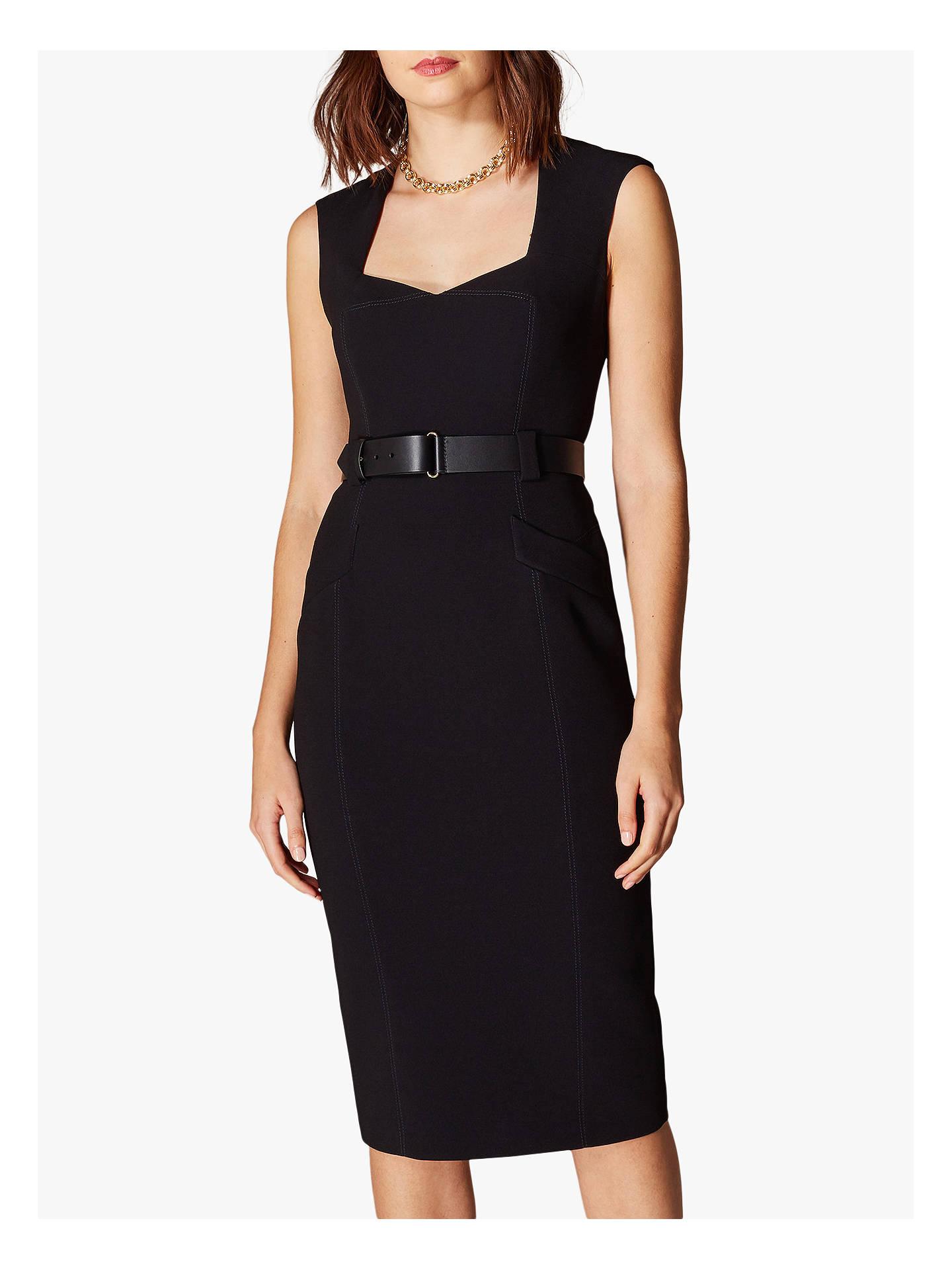 b5eff9e276e Buy Karen Millen Sleeveless Forever Dress, Black, 6 Online at johnlewis.com  ...