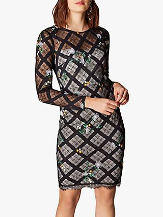 6dda5567fe Karen Millen Check Lace Pencil Dress