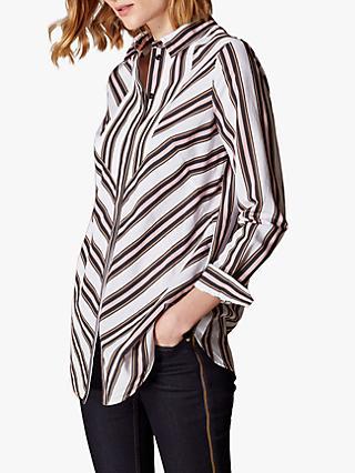 839acf4388adcc Karen Millen Long Sleeve Striped Shirt