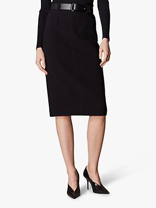 f1d68c051cb Karen Millen Leather Belt Pencil Skirt