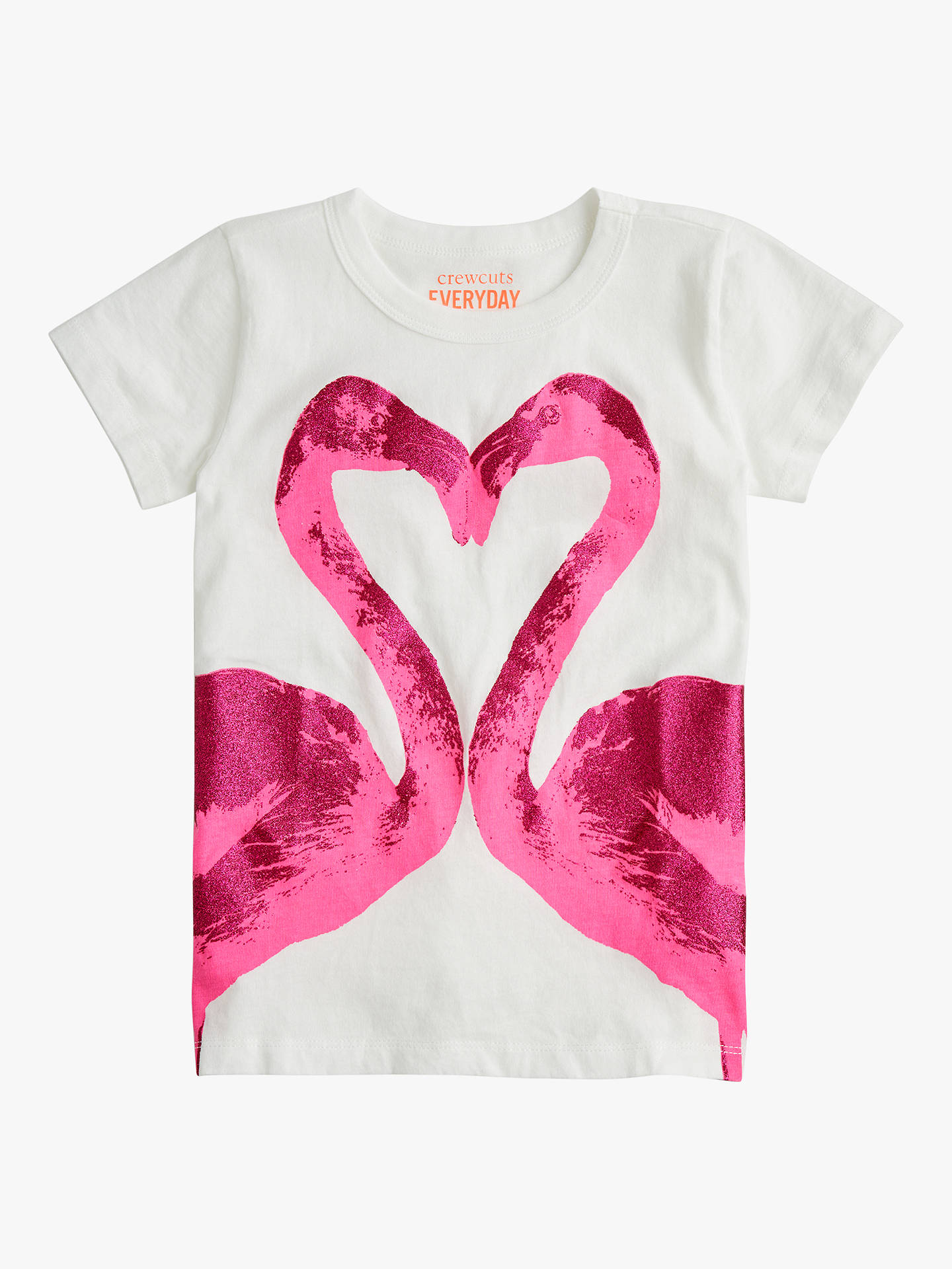 9d9a0254df3 Buy crewcuts by J.Crew Girls  Glitter Flamingo Heart T-Shirt