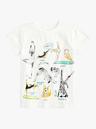 2431e776 crewcuts by J.Crew Girls' Yoga Dogs Print T-Shirt, Ivory