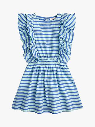 1e8c0043da1a crewcuts by J.Crew Girls' Daphine Stripe Dress, Blue Ivory Stripe