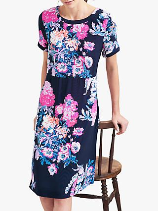 Joules Krista Floral Jersey Dress, Navy