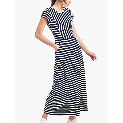 Joules Trudy Stripe Maxi Dress, Cream/Navy