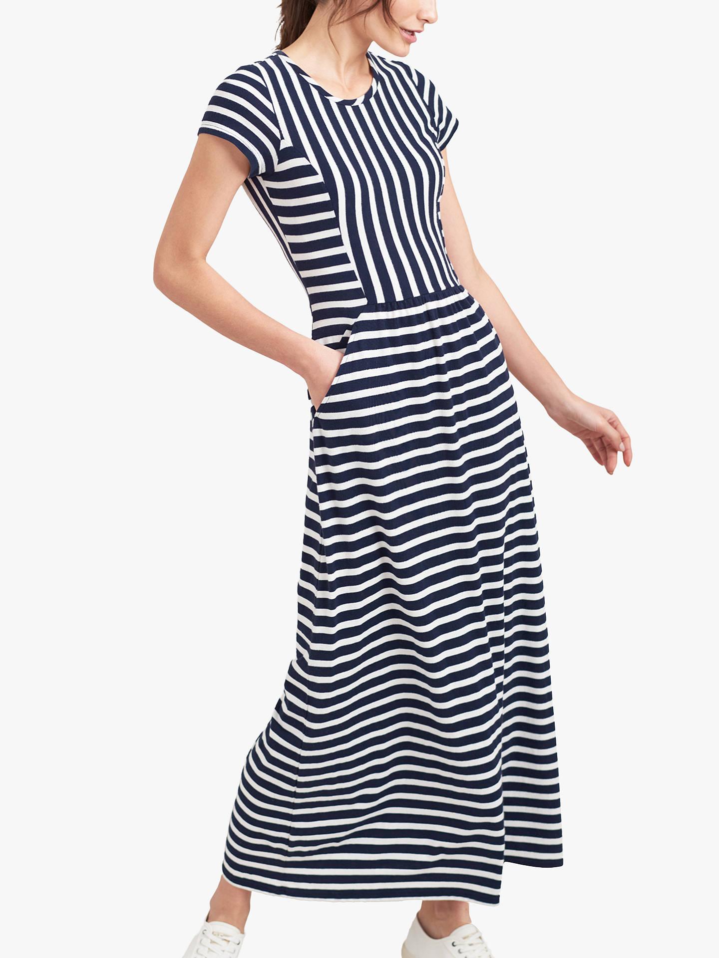 ef0286a7a88ce Joules Trudy Stripe Maxi Dress, Cream/Navy
