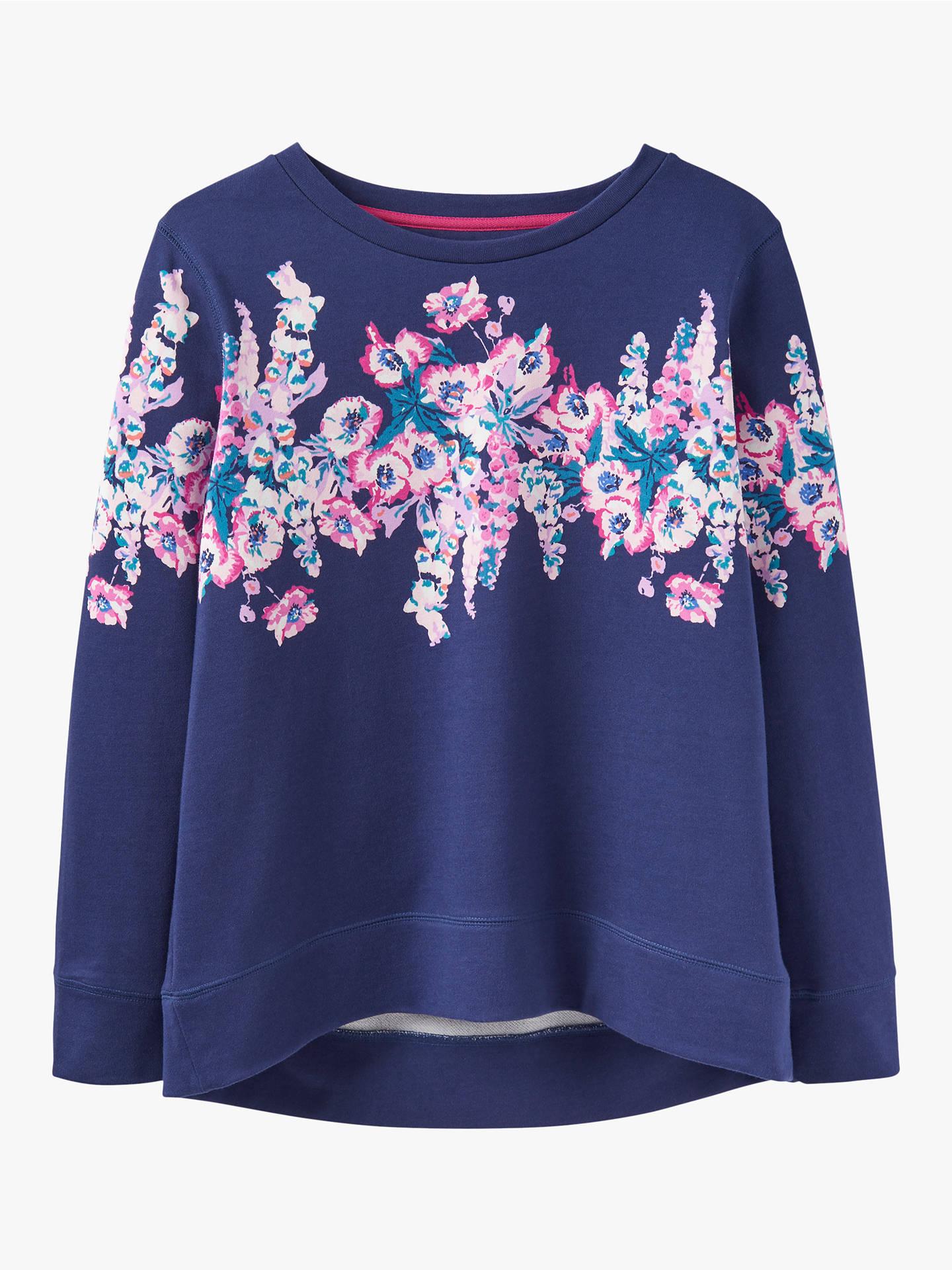 63aeb3abcf Joules Ellen Floral Sweatshirt, Blue at John Lewis & Partners