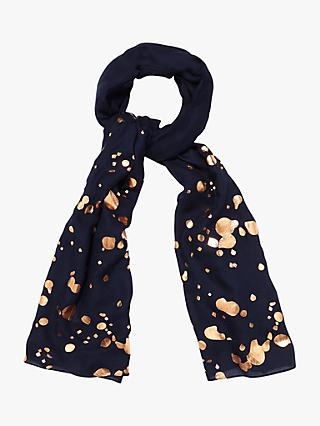 Phase Eight Hattie Foil Print Scarf, Blue