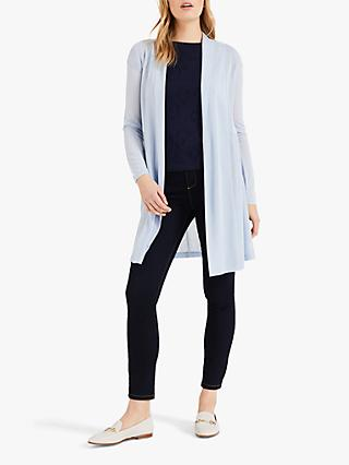 Phase Eight Lili Longline Cardigan, Ice Blue