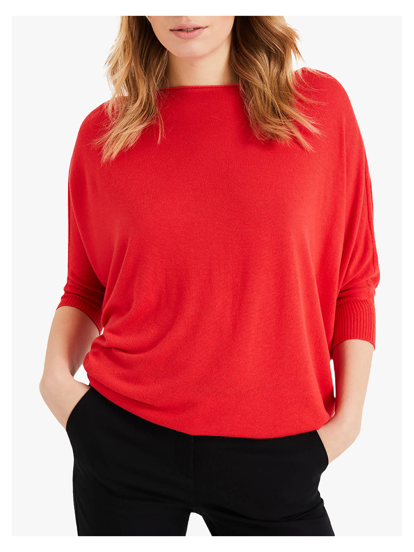 28936979ac0 Phase Eight Becca Batwing Jumper, Tomato
