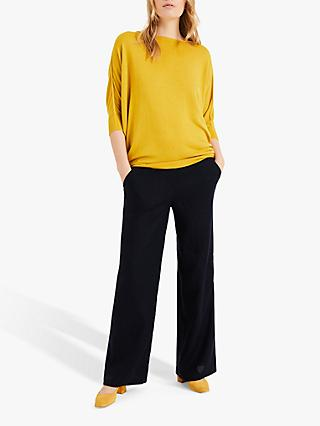 Phase Eight Becca Batwing Jumper, Mustard