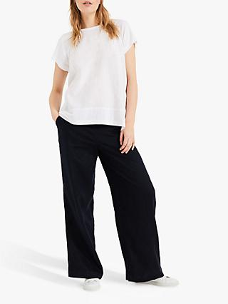 Phase Eight Melody Linen Blouse, White
