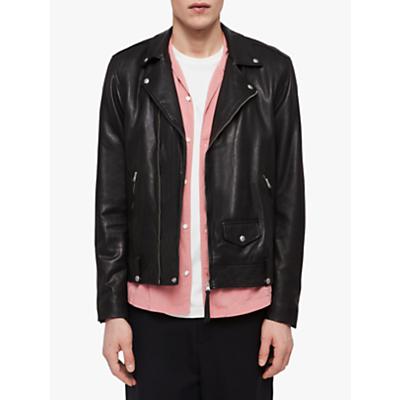 Image of AllSaints Ace Leather Biker Jacket, Black