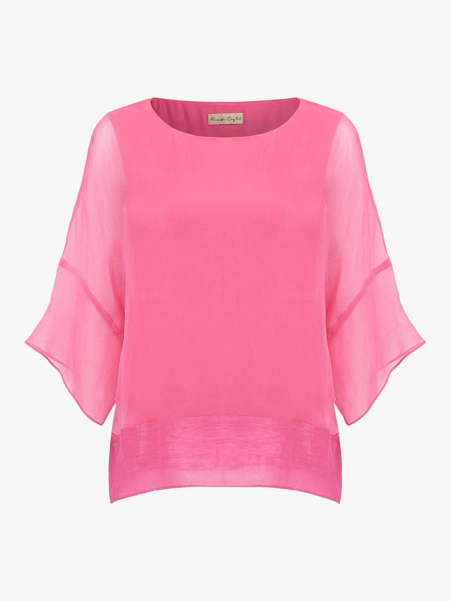 90e01a3fd43675 Buy Phase Eight Crystal Plain Silk Blouse