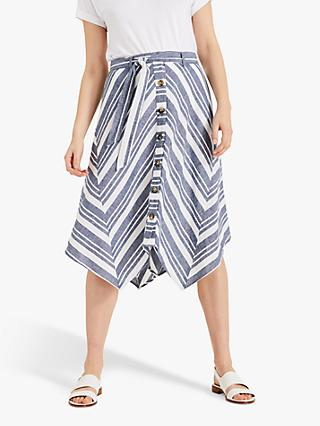 Phase Eight Maggiore Stripe Skirt, Blue