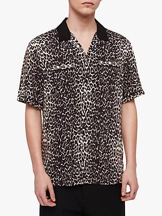 ea97d969c7c AllSaints Feline Leopard Print Slim Fit Shirt