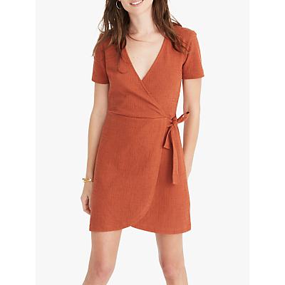 Madewell Texture & Thread Tie Side Dress, Burnt Clay