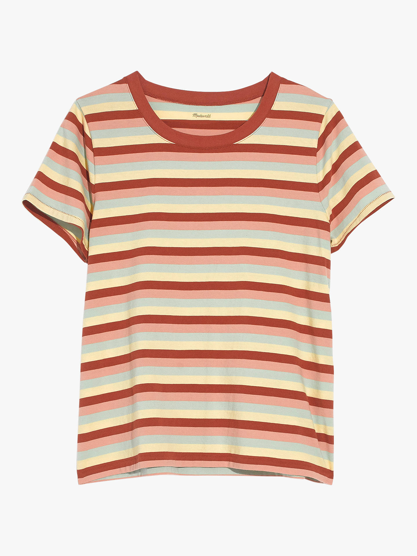 901cb922 ... Buy Madewell Northside Vintage Stripe T-Shirt, Dark Cinnabar, XXS  Online at johnlewis ...
