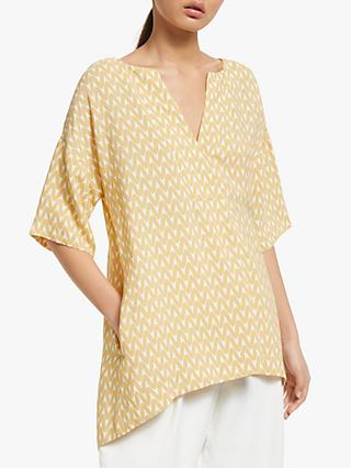 Kin Chaen Cross Neck Top, Yellow