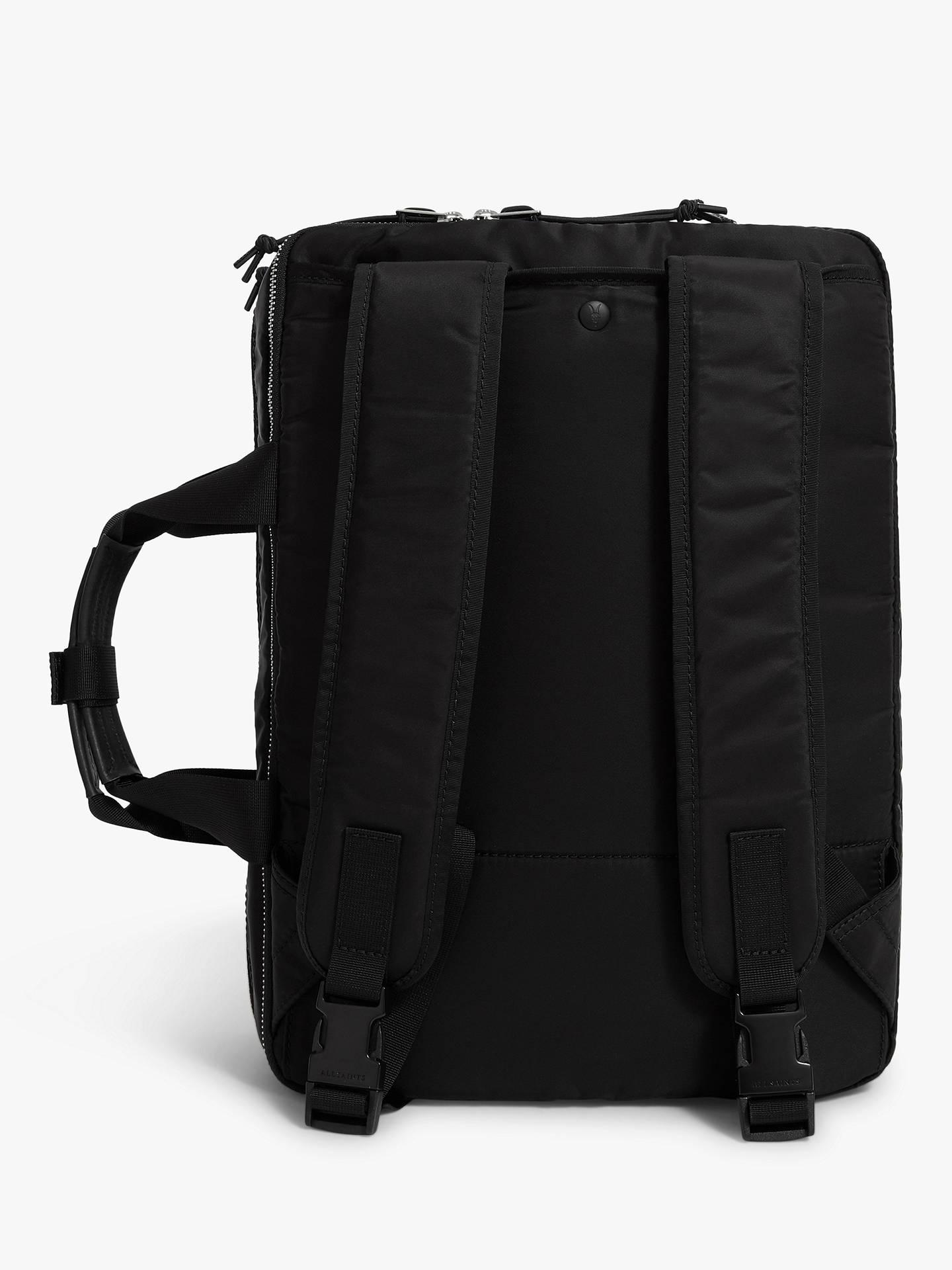 cc0cc2099 ... Buy AllSaints Elsdale Workbag Rucksack, Black, One Size Online at  johnlewis.com