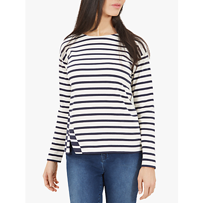 Jaeger Vent Detail Striped Top