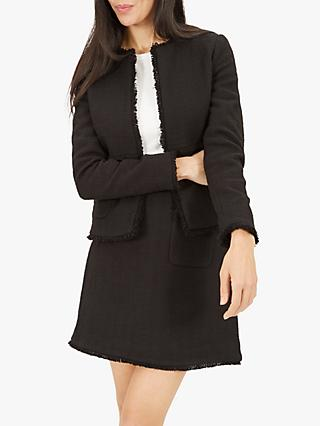 Jaeger Boucle Trim Jacket, Black