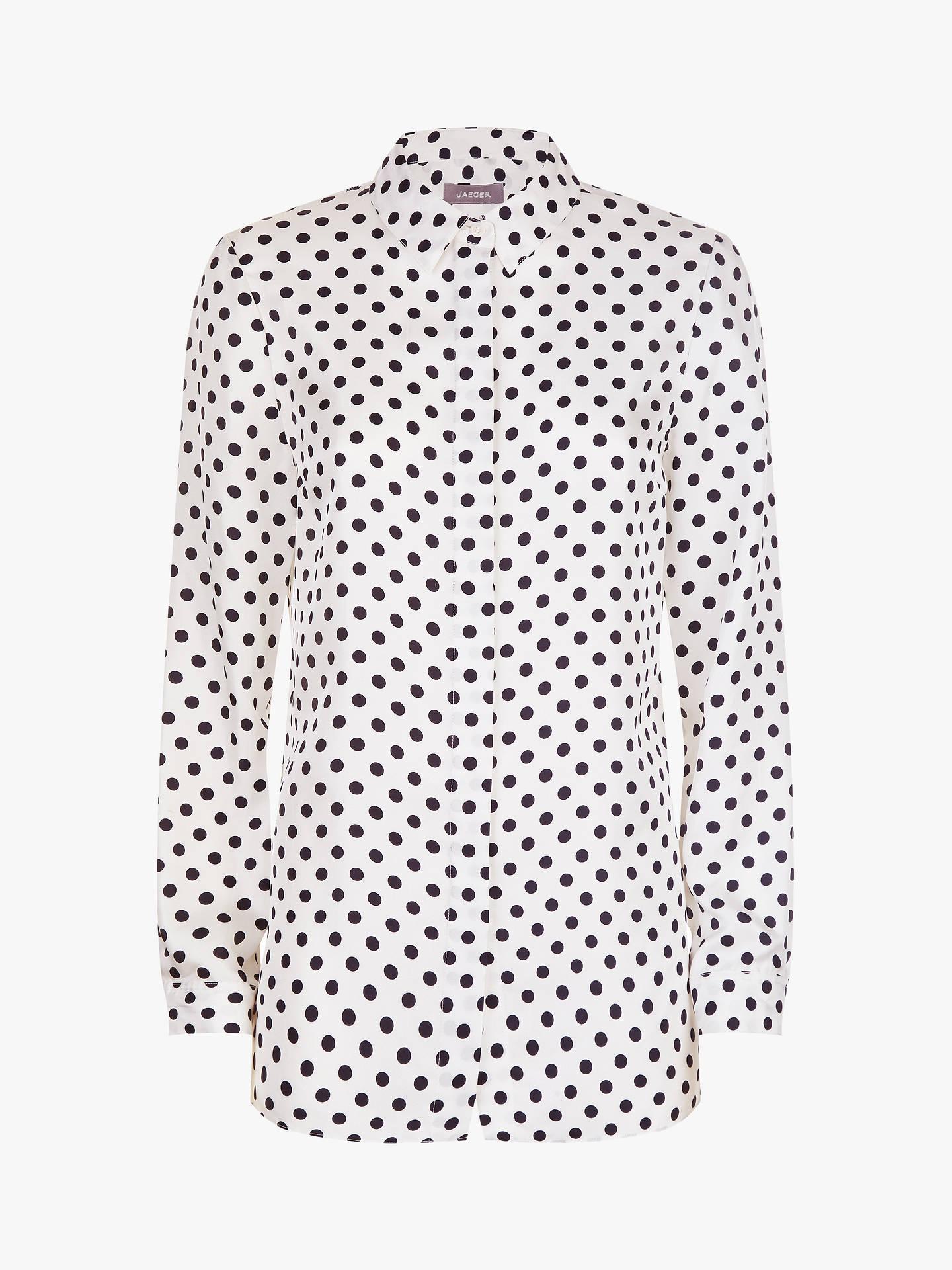 5a6ee8ef163c82 ... Buy Jaeger Polka Dot Silk Shirt
