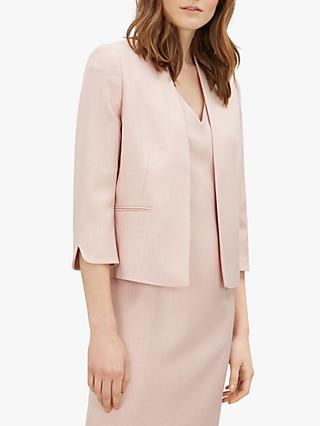 Jaeger Textured Jacket, Pale Pink