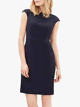 Jaeger Ottoman Dress, Dark Blue