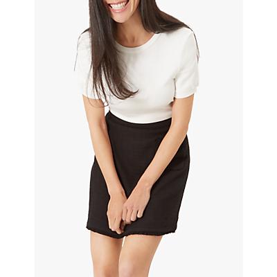Jaeger Boucle Trim Skirt, Black