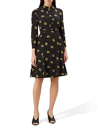 Hobbs Emberly Dress, Black Mimosa