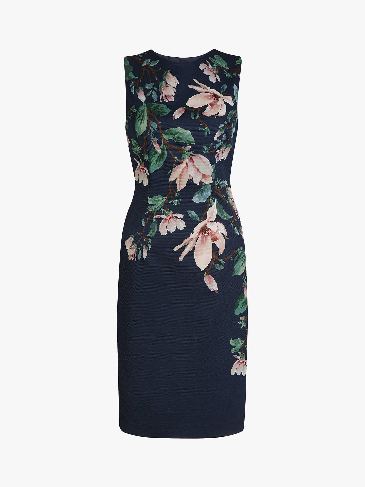 Buy Hobbs Moira Dress, Midnight Multi, 8 Online at johnlewis.com